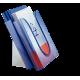 Półka na katalogi Leitz - niebieski transparentny