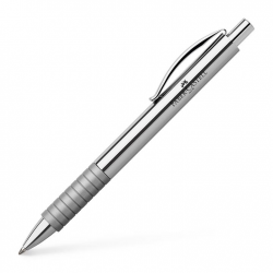Długopis Faber-Castell Essentio Metal - błyszczący, srebrny