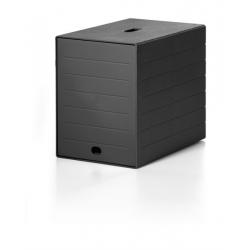 Pojemnik z 7 szufladami z osłoną IDEALBOX - czarny
