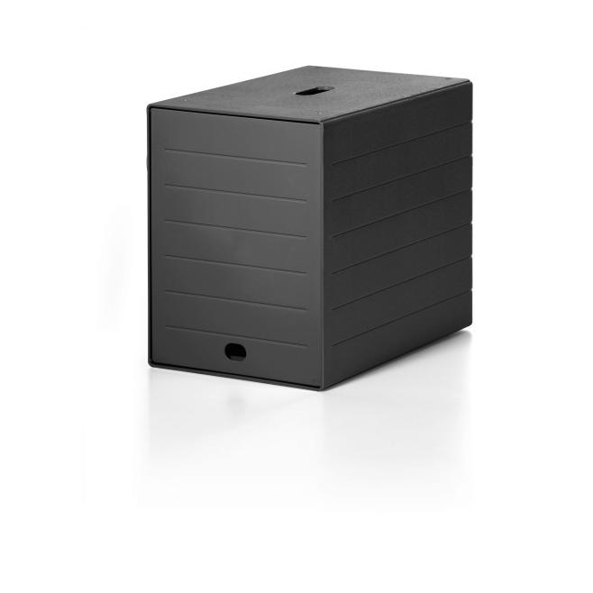 Pojemnik z siedmioma szufladami z osłoną IDEALBOX - czarny