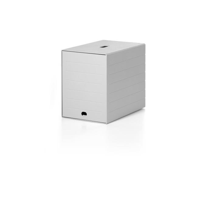 Pojemnik z siedmioma szufladami z osłoną IDEALBOX - szary