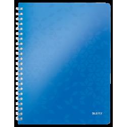 Kołonotatnik PP Leitz WOW A4, w kratkę - niebieski metaliczny