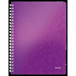 Kołonotatnik PP Leitz WOW A4, w kratkę - fioletowy metaliczny