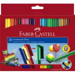 Pisaki Faber-Castell Connector - pudełko - 20 kolorów