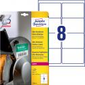 Polietylenowe etykiety ultra resistant A4 - 99,1x67,7mm Avery Zweckform białe / 10 ark