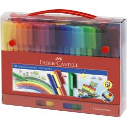 Pisaki CONNECTOR walizka - 60 kolorów
