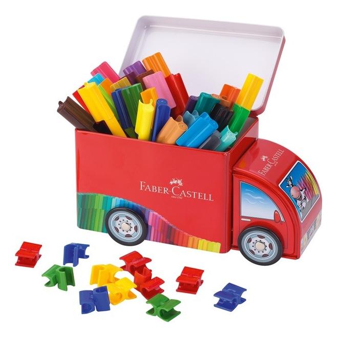 Pisaki Faber-Castell Connector - Ciężarówka - 33 kolory