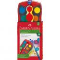 Farby akwarelowe Faber-Castell Connector - 12 kolorów + pędzelek