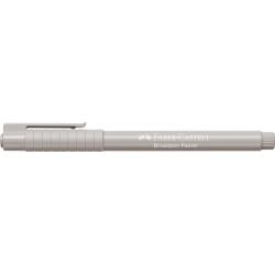 Cienkopis Faber Castell 1554 Broadpen 0,8mm - jasny szary