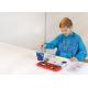 Fartuszek Faber Castell do malowania - niebieski