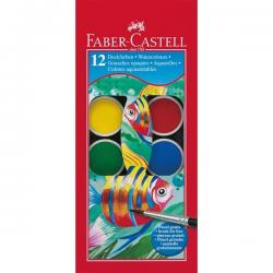Farby akwarelowe RYBKA - 12 kolorów 30mm