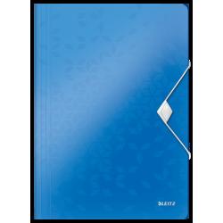 Teczka z gumką PP Leitz WOW, 15 mm - niebieska