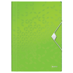 Teczka z gumką PP Leitz WOW, 15 mm - zielona