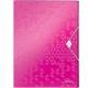 Teczka z gumką PP Leitz WOW, 30 mm - różowy