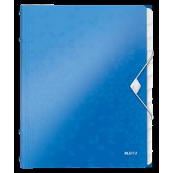 Teczka segregująca Leitz WOW 12 przekładek - niebieska