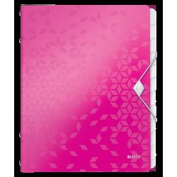 Teczka segregująca Leitz WOW 12 przekładek - różowa