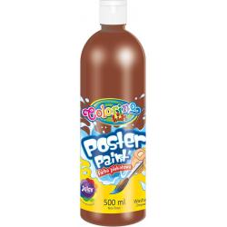 Farba plakatowa Patio Colorino Kids 500 ml - brązowa