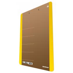 Deska z klipsem A4 - Donau - żółty