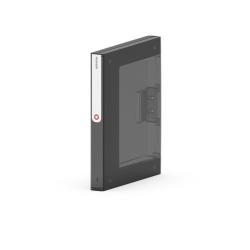 Segregator Moxom NewBinder - 35 mm - czarny transparentny