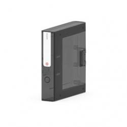 Segregator  Moxom NewBinder - 70 mm - czarny transparentny