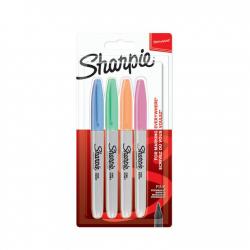 Markery permanentne Sharpie Pastel - zestaw 4 kolorów