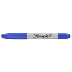 Marker permanentny dwustronny Sharpie Twin Tip - niebieski