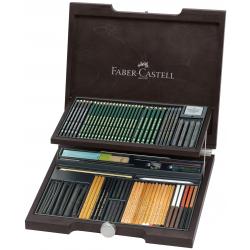Zestaw Pitt Monochrome Faber-Castell - 85 elementów/ drewniana kaseta
