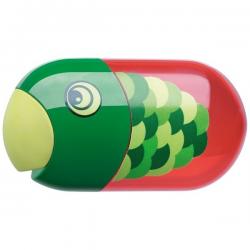 Temperówka plastikowa z gumką - Rybka