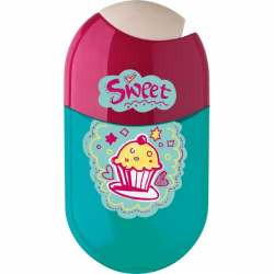 Temperówka plastikowa z gumką - Cupcakes