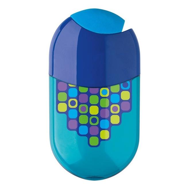 Temperówka plastikowa z gumką - Squares