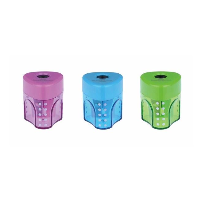 Temperówka plastikowa GRIP - jeden otwór - mix kolorów