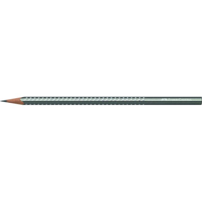 Ołówek grafitowy SPARKLE - srebrny