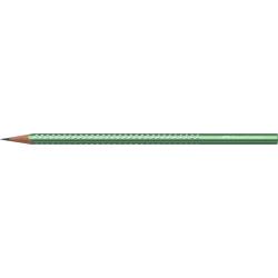 Ołówek grafitowy SPARKLE - zielony metallic
