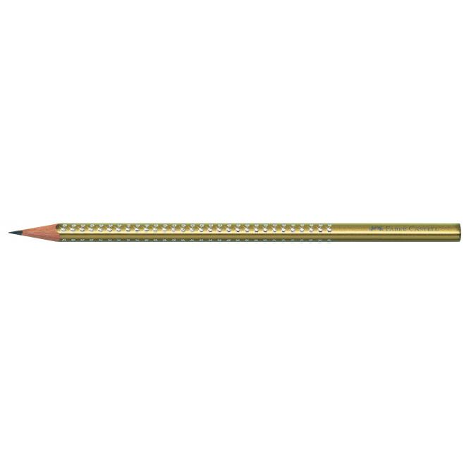 Ołówek grafitowy SPARKLE - złoty
