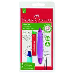 Ołówek skrętny Scribolino - różowy + grafity