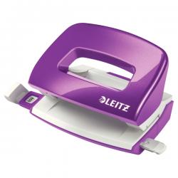 Dziurkacz mini metalowy Leitz WOW - fioletowy metaliczny