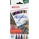 Pisaki akrylowe Edding 5100 metaliczne - zestaw 5 kolorów