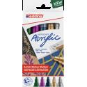 Markery akrylowe Edding 5100 metaliczne - 5 kolorów