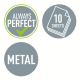 Dziurkacz mini metalowy Leitz WOW - różowy metaliczny