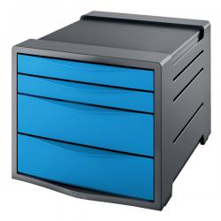 Pojemnik z 4 szufladami Esselte Europost Vivida - niebieski