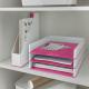 Półka na dokumenty Leitz WOW - dwukolorowa, różowy