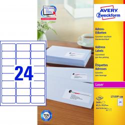 Adresowe etykiety białe A4 - 63,5x33,9 / 25 ark