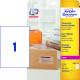 Wysyłkowe etykiety przezroczyste A4 - 210x297 / 25 ark
