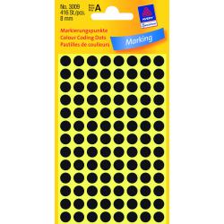 Kółka do zaznaczania Avery Zweckform - Ø 8 mm - czarne