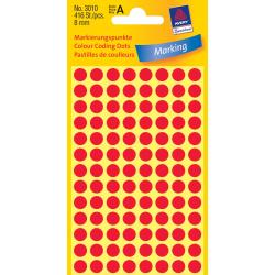 Kółka do zaznaczania Ø 8 mm - czerwone