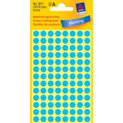 Kółka do zaznaczania Ø 8 mm - niebieskie