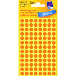 Odblaskowe kółka do zaznaczania Avery Zweckform - Ø 8 mm - pomarańczowe