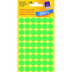 Kółka do zaznaczania Avery Zweckform - Ø 12 mm - zielone
