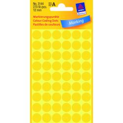 Kółka do zaznaczania Avery Zweckform - Ø 12 mm - żółte