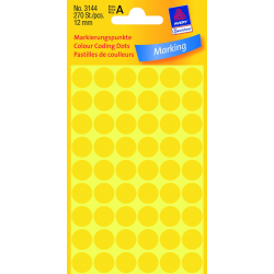 Kółka do zaznaczania Ø 12 mm - żółte